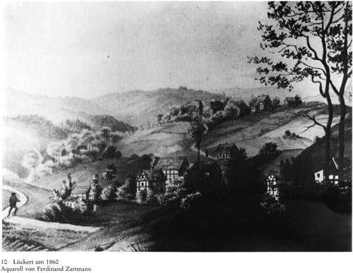 Lückert um 1860 - Aquarell von Ferdinand Zartmann