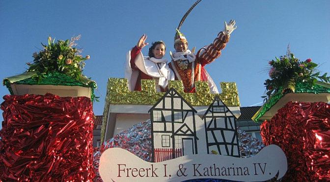 Karnevalsumzug mit Prinz Freerk und Prinzessin Katharina